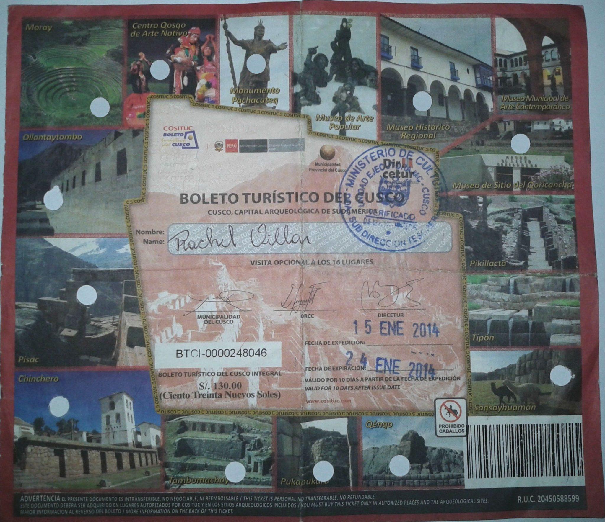 Boleto Turístico de Cusco, onde comprar 2